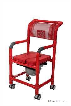 PCS Standard Farbe Rot, mit gepolsterter Sitzfläche