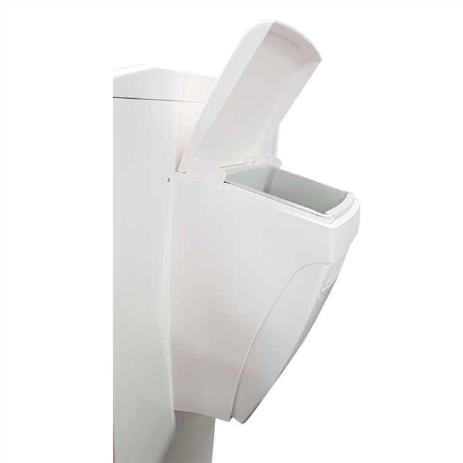 Abfallbehälter 8 Liter mit Knie-Bedienung für Pflegewagen