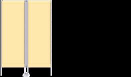 Paravent RLP 2-flüglig, mit CHECK®-Gewebe