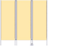 Paravent RLP 3-flüglig, mit CHECK®-Gewebe