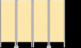 Paravent RLP 4-flüglig, mit CHECK®-Gewebe