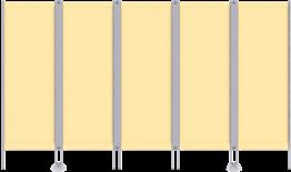 Paravent RLP 5-flüglig, mit CHECK®-Gewebe