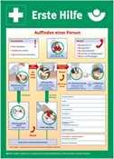 Kunststoffplakat Anleitung zur Ersten Hilfe, 560x400mm