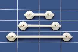 2-Handgriff, 350 mm Greiflänge, Nennlast 70 kg, Gesamtlänge 570 mm
